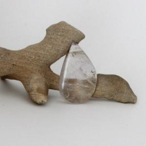 Clear quartz cabochon