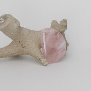 Pink quartz cabochon
