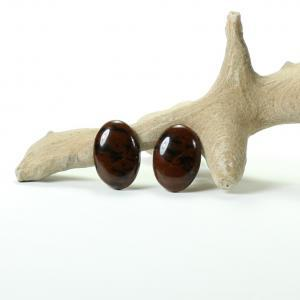 Pair of jasper cabochons - Perfect for Earings