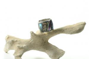 Sterling silver abalone shell ring