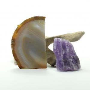 Brazilian Agate Slab and Amethyst Slab