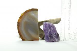 Brazilian Agate Slab and Amethyst Slab