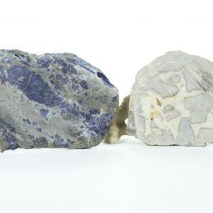 Sodalite and Septarian Nodule slab