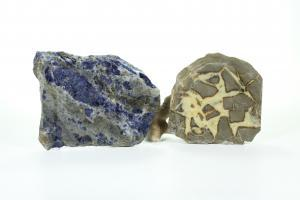 Sodalite and Septarian Nodule slab