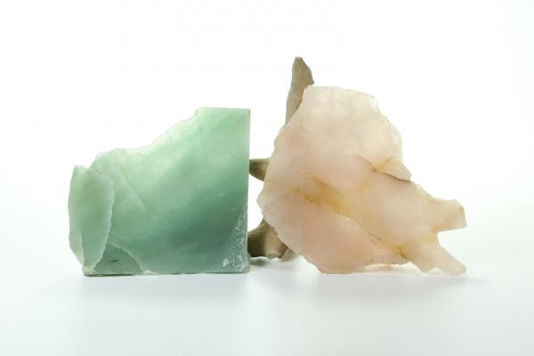 Aventurine Slab and Rose Quartz slab